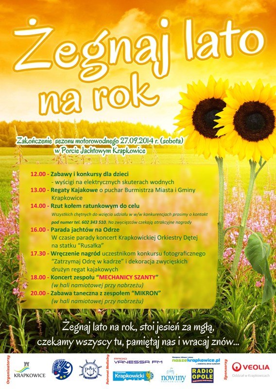 Plakat - Żegnaj lato www.jpeg