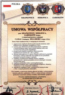 Krapkowice, Morawica, Zabierzów - Camas, Hillsboro