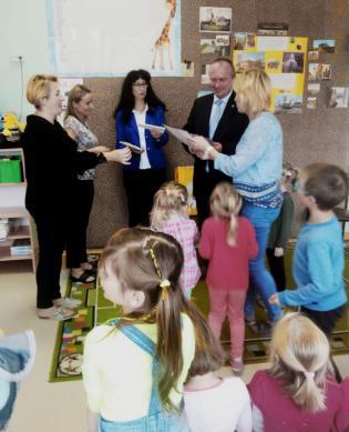 Galeria Burmistrz z wizytą w przeszkolu