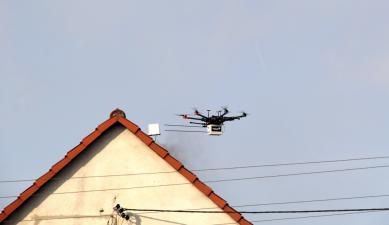Galeria Dronem w smog