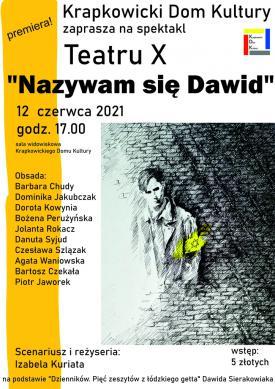 Plakat Teatr X - Nazywam się Dawid.jpeg