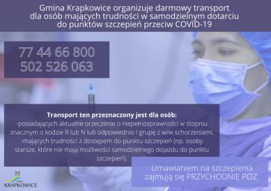 Gmina Krapkowice organizuje darmowy transport dla osób mających trudności w samodzielnym dotarciu do punktów szczepień (1).png
